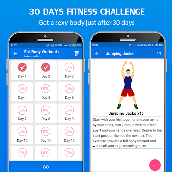 30 Day Home Workout - Fit challenge home workouts