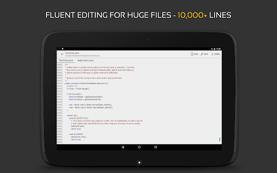 QuickEdit Text Editor - Writer, Code Editor