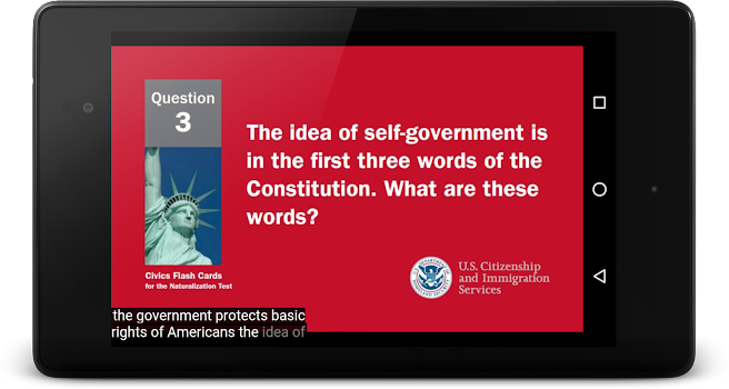 US Citizenship Test 2019 Audio