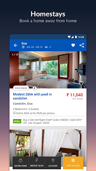 MakeMyTrip-Flight Hotel Bus Cab IRCTC Rail Booking