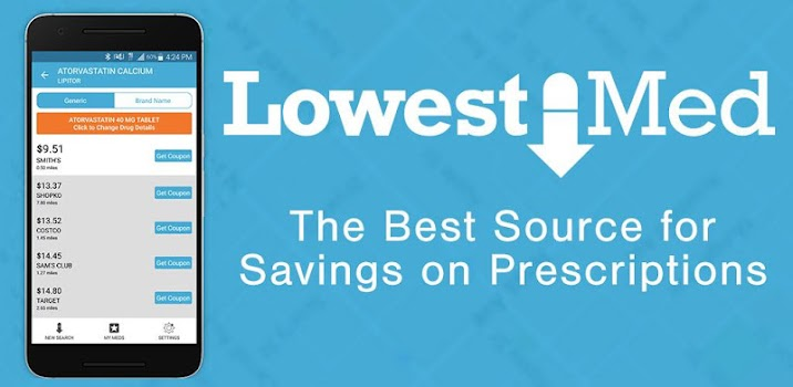 Best 10 prescription drug discount apps appgrooves lowestmed rx discounts fandeluxe Gallery