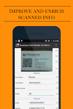 Business card reader for ms dynamics crm by magneticone mobile business card reader for ms dynamics crm reheart Images