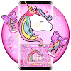Lovely Cuteness Pink Unicorn Keyboard Theme