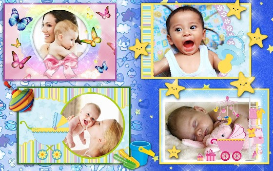 baby photo frames effects