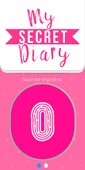 My personal diary with fingerprint password