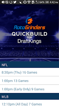 QuickBuild: DraftKings Lineups ...