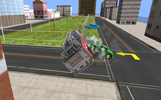 Fire Fighter Truck Rescue 3D - by Free Games 123
