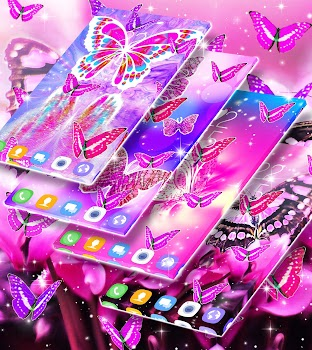 6ae81abfdd Pink butterfly live wallpaper - by Best live wallpapers for Android ...