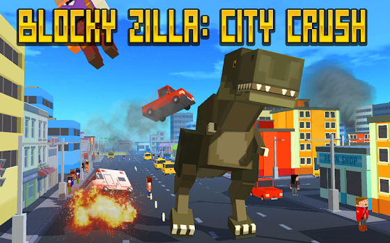 Blocky Zilla: City Crush