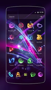 Neon Light Icon Packs (Theme)