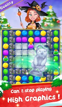 Sweet Candy Witch - Match 3 Puzzle Free Games