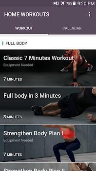 Home Workout - No Equipment & Meal Planner