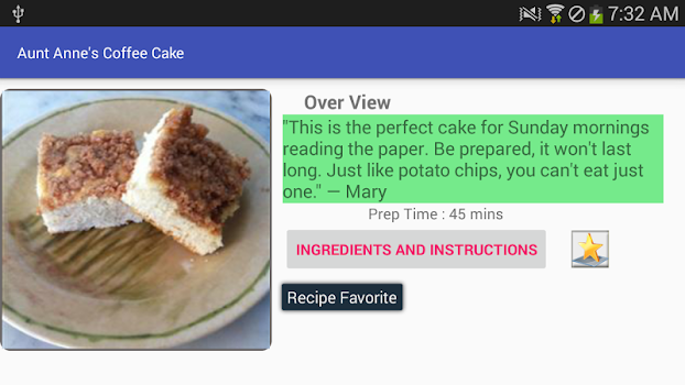 Coffee cake recipe free recipe app by amin and co food drink coffee cake recipe free recipe app forumfinder Images
