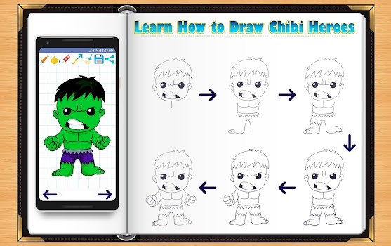 Learn How to Draw Chibi Super Heroes