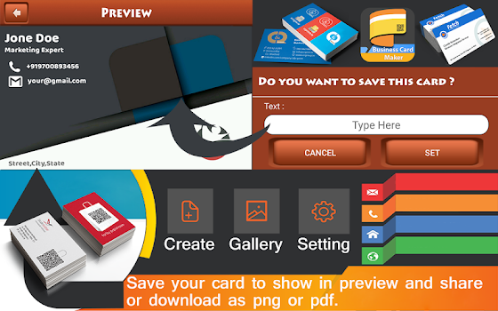 Business card maker business card holder by devs wall 11 app business card maker business card holder reheart Gallery