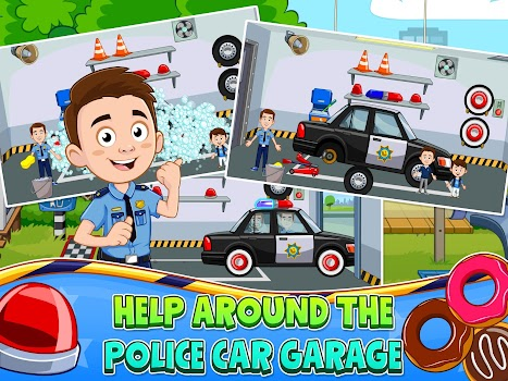 my town police station game