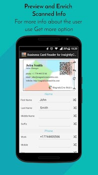 Business card reader for insightly crm by magneticone mobile business card reader for insightly crm reheart Choice Image