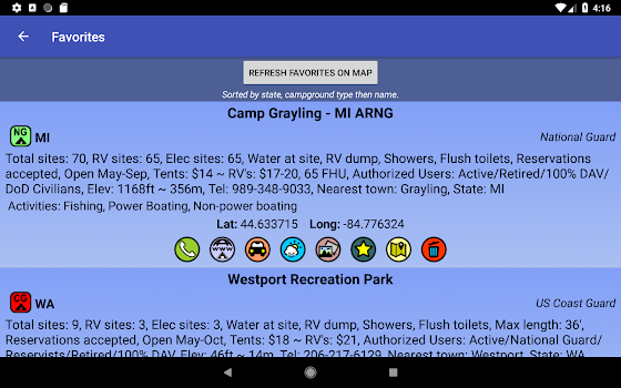 Ultimate US Military FAMCAMPS