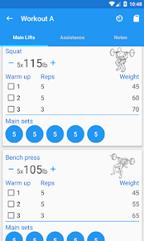5x5 workout logger by sarasoft health fitness category 356