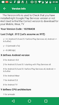 ... Play Services & Play store Information ...