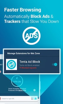 Tenta Private VPN Browser + Ad Blocker (Beta)