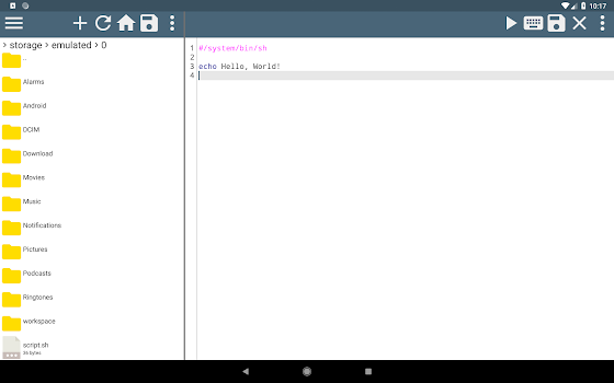 Shell Script Editor - by Alif software - Tools Category - 10