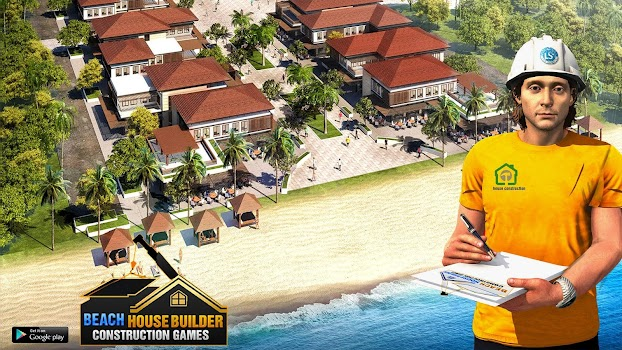 Beach House Builder Construction Games 2018