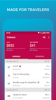 Travel Budget - Track Expenses with TravelSpend