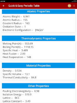 Periodic table of chemical elements chemistry app by pro data periodic table of chemical elements chemistry app urtaz Image collections