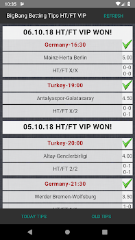 BigBang Betting Tips Half Time / Full Time VIP