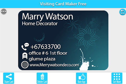 Business card maker business card holder by devs wall 19 app business card maker business card holder by devs wall 19 app in business card designer personalization category 21 features 2129 reviews cheaphphosting Images