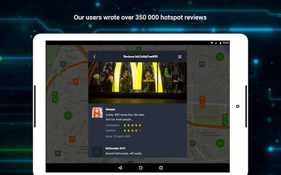WiFi: WiFi map and passwords
