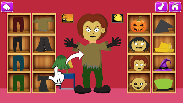 pretend halloween play learning game for kids