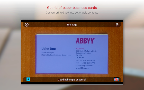 Business Card Reader Free - Business Card Scanner