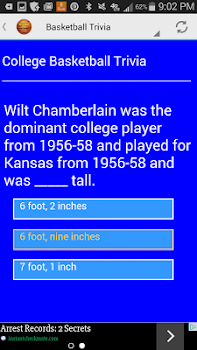 College Basketball Trivia Game