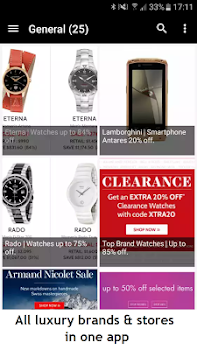 Luxury - Daily deals. Shopping app, brands, stores