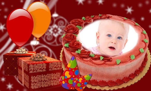 Birthday Cake Photo Frame Collage Editor By Photo Kindle