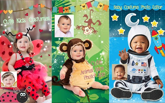 cute baby photo montage app costume for kids
