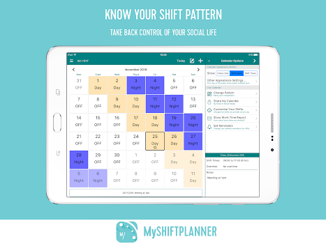My Shift Planner - Personal Shift Work Calendar