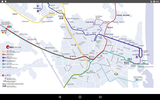 Valencia Metro Map 2017 by AmzApps Maps Navigation Category