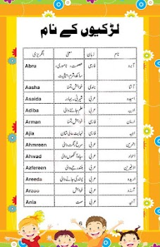 Islamic Names For Muslim Baby Boys And Girls With Urdu English Meanings