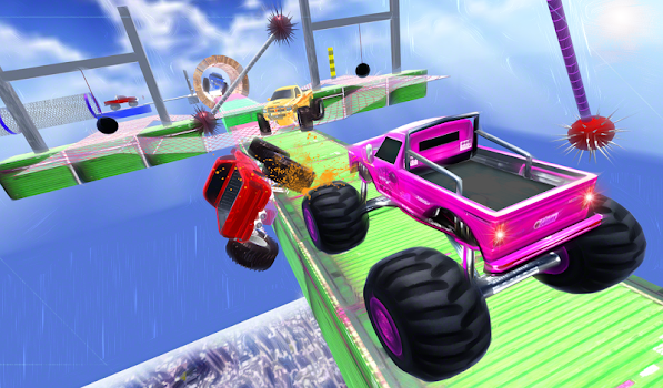 ... Monster Truck Stunt Race : Impossible Track Games ...