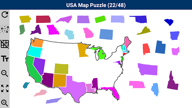 USA Map Puzzle by PANAGOLA Puzzle Games Category 57 Reviews