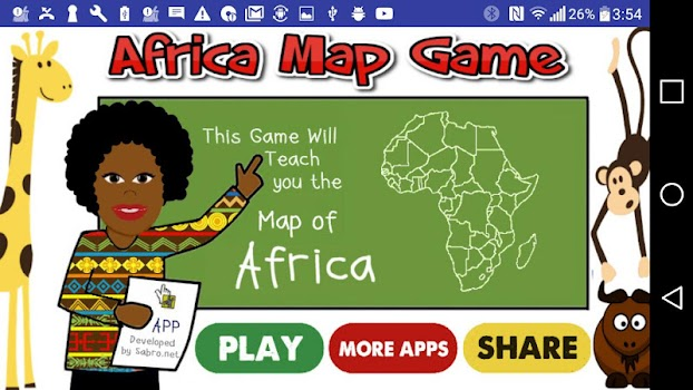 Africa Map Puzzle Drag Drop by Sabronet Educational Games