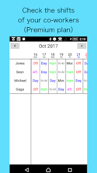 Shift Work Calendar