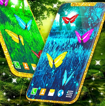 Butterflies Forest Wallpaper By Hd Live Wallpapers And