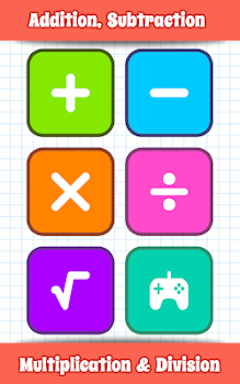Math Games, Learn Add, Subtract, Multiply & Divide