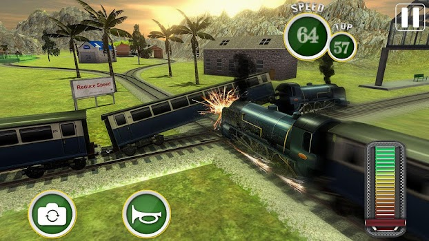 Fast Euro Train Driver Sim: Train Games 3D 2018