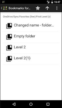 Bookmarks for OneDrive