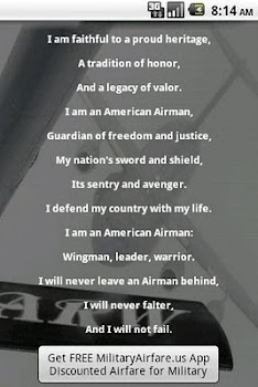 Us air force airmans creed by baxbox innovative products us air force airmans creed altavistaventures Images